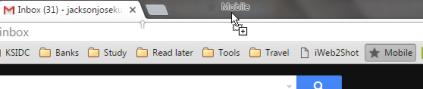 Google chrome - open moble bookmarks in desktop