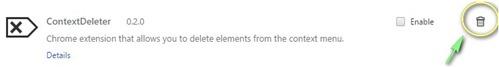 Google Chrome - Delete extension