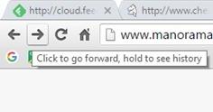 Google Chrome - go backward or forward webpags