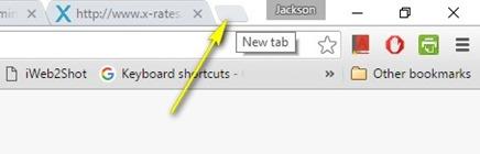 Google Chrome - New tab
