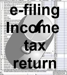 Income tax return - e-file