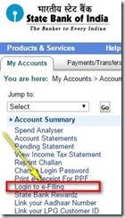 login to efiling from online banking