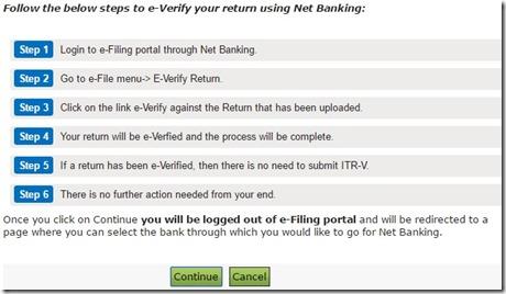 verify return - continue