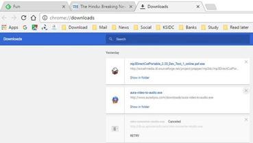 Downloads - Google chrome