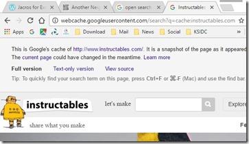Google chrome - cacheview