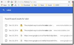 Google chrome - search history